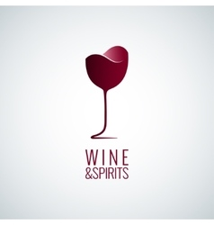 Wine glass logo design background vector