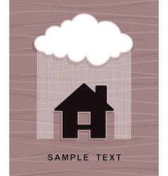 House under rain vector