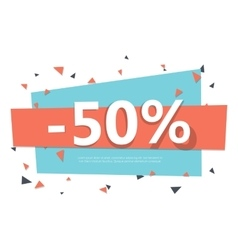 Colorful sale badge geometric design vector