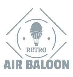 air balloon logo simple gray style vector image vector image