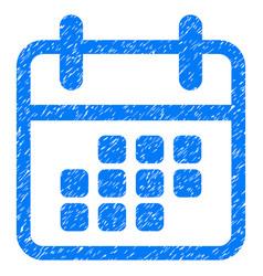 Calendar month grunge icon vector
