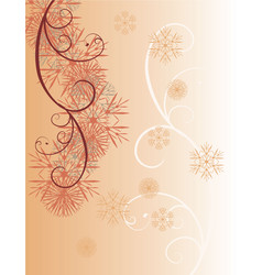 chocolate snowflakes vector image vector image