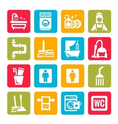 Colorful cleaning icons vector