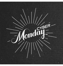 Cyber monday sale label vector