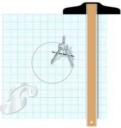 drafting tools vector image vector image