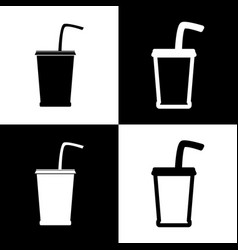 Drink sign black and white vector