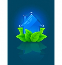 eco house symbol vector image