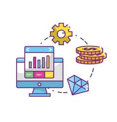 Fintech industry design vector
