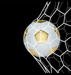 golden realistic soccer ball or football vector image vector image