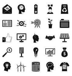 New idea icons set simple style vector
