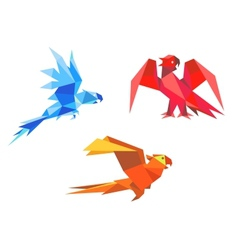 Origami parrots vector image vector image