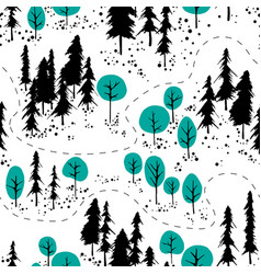 Outdoor map pattern vector