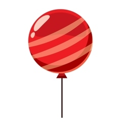 Red balloon icon isometric 3d style vector