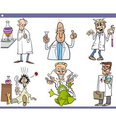 scientists characters cartoon set vector image