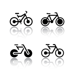 Set of transport icons - bikes vector image