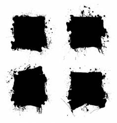 square black ink splat vector image vector image