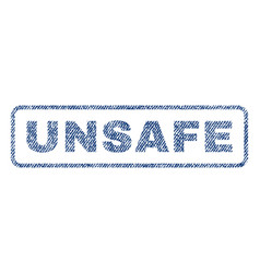 Unsafe textile stamp vector