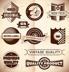 Vintage labels Collection 23 vector image vector image