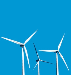 Windmills vector
