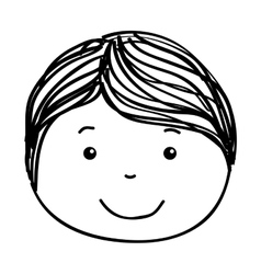 Little boy face icon vector