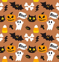 Halloween cartoon seamless background vector