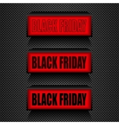 Black friday warning message sale and discount vector