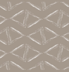 white triangles on a beige background vector image
