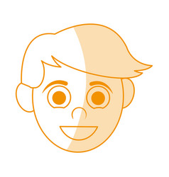 Orange silhouette shading caricature front view vector