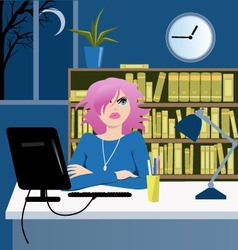 Long working hours vector image