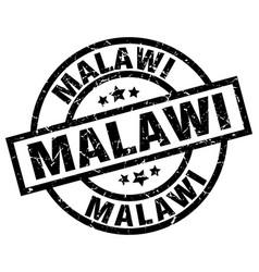 Malawi black round grunge stamp vector