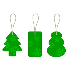 Christmas cardboard tags vector