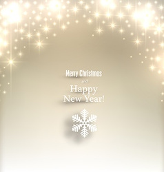 Sparkle golden christmas background vector