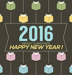 Simply and clean 2016 new year card vector