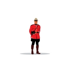 Mountie sign canada police vector