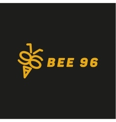 Bee wings in the form of numbers 96 vector