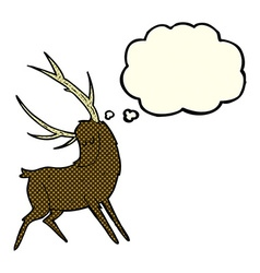 Cartoon stag with thought bubble vector