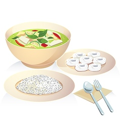 green curry vector image
