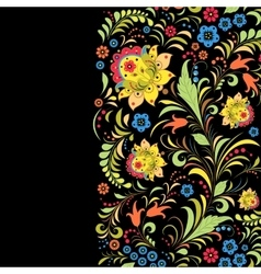 Traditional russian floral pattern vector