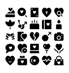 Love and romance icons 10 vector