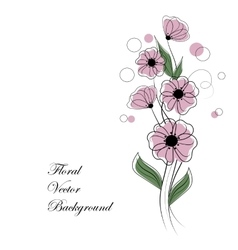 Abstract bouquet of pink flowers vector