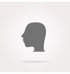 Idea head icon button Web Icon Art vector image