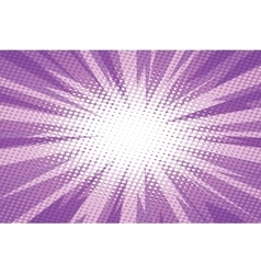 Purple pop art retro burst background vector image