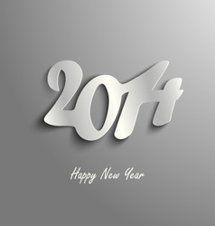 Abstract New Year card on a gray background vector image