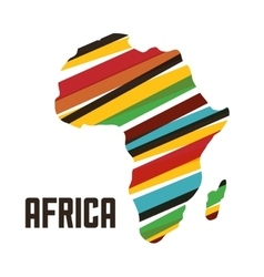 Africa design map shape icon graphic vector