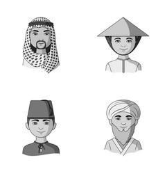 Arab turks vietnamese middle asia man human vector