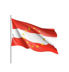 Austria national flag with a circle of eu vector