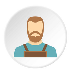Blacksmith icon circle vector