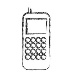 cellphone thecnology call sketch vector image