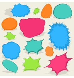 Colorful different Speech Bubbles EPS8 vector image vector image