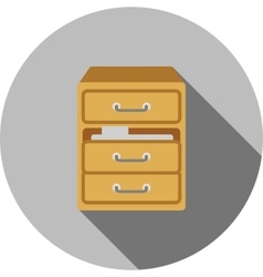 Files in Drawer vector image
